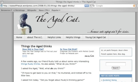 more ads on Aged Cat